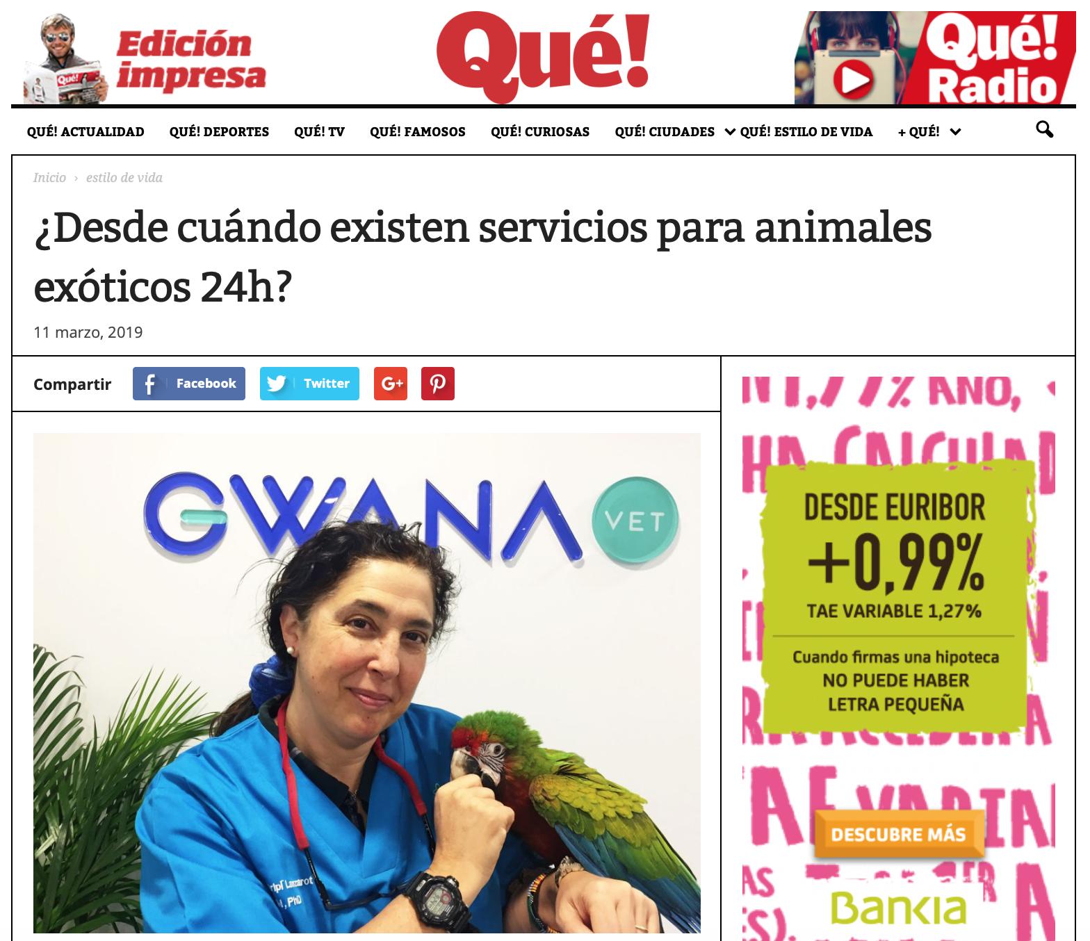 Nota de prensa Qué!